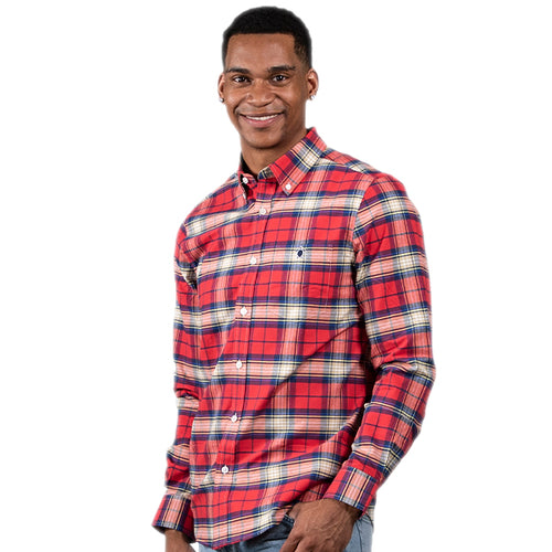 SIMPLY SOUTHERN COLLECTION MEN'S PARKER BUTTONUP - RED