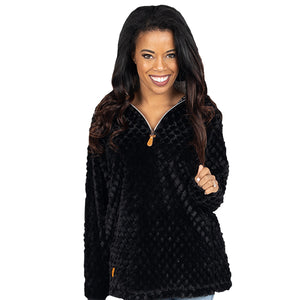SIMPLY SOUTHERN COLLECTION FUZZY PULLOVER - BLACK