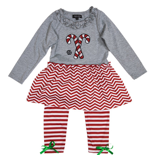 SIMPLY SOUTHERN COLLECTION TODDLER SET - CANDY CANE
