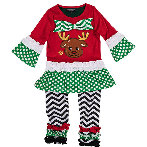 SIMPLY SOUTHERN COLLECTION TODDLER SET - REINDEER