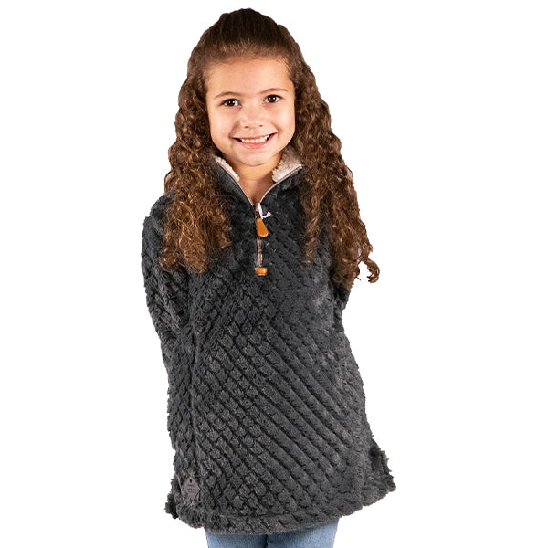 SIMPLY SOUTHERN COLLECTION - YOUTH SIMPLYFUZZY - DARK GREY
