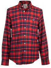 Load image into Gallery viewer, Simply Southern Guys Red Parker Dress Shirt