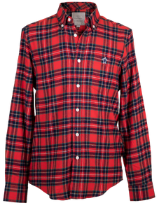 Simply Southern Guys Red Parker Dress Shirt