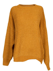 Simply Southern Collection Mustard Wave Sweater