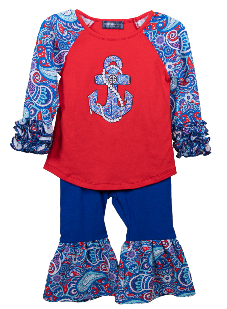 Simply Southern Collection Toddler Paisley Bell Set