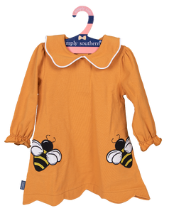 Simply Southern Collection Toddler Bee Embroidered Dress