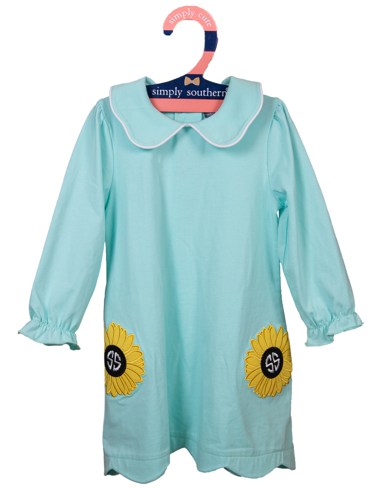 Simply Southern Collection Toddler Sunflower Embroidered Dress