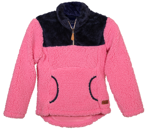 Simply Southern Collection Youth Pink Sherpa