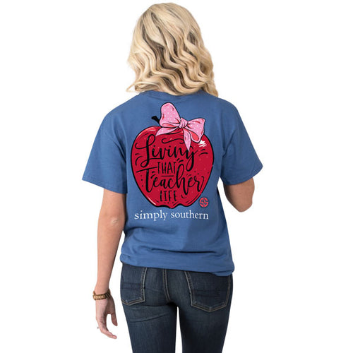 SIMPLY SOUTHERN COLLECTION TEACHER APPLE T-SHIRT