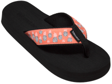 Load image into Gallery viewer, Tidewater Pineapples Boardwalk Flip Flops