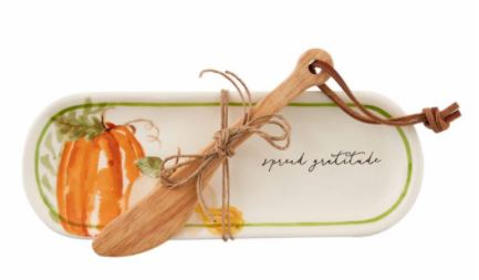 Mud Pie Pumpkin Butter Dish Set