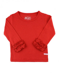 Ruffle Butts Red Ruffle Long Sleeve Tee