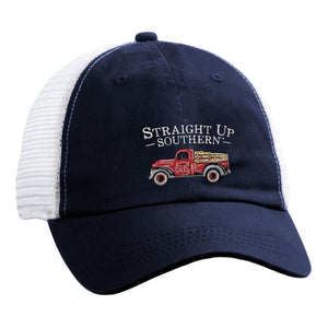 STRAIGHT UP SOUTHERN RED TRUCK HAT