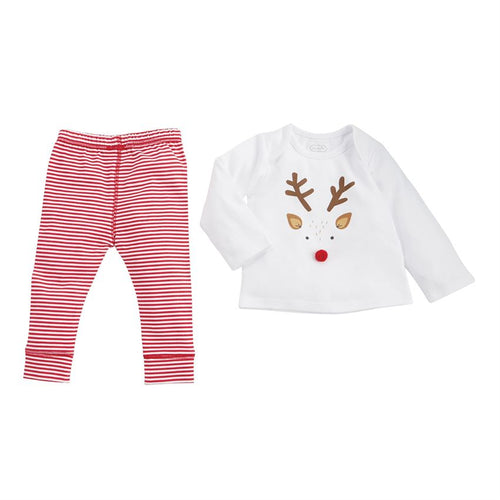 Mud Pie Reindeer Shirt Set