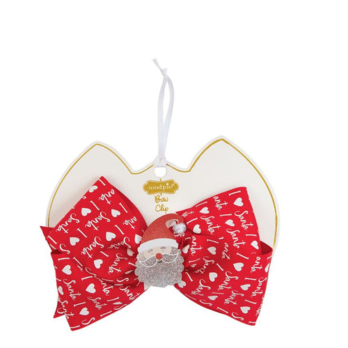 Mud Pie Santa Acrylic Bow