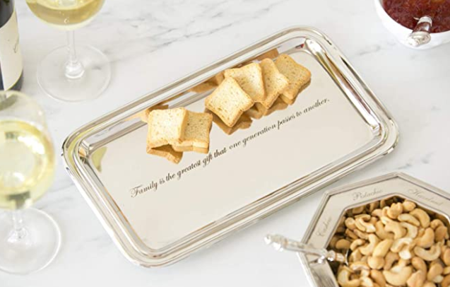 Evergreen Stainless Steel Serving Platter