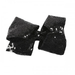 SIMPLY SOUTHERN COLLECTION - BOW - BLACK SEQUINS