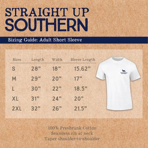 STRAIGHT UP SOUTHERN USA FISH FLAG T-SHIRT