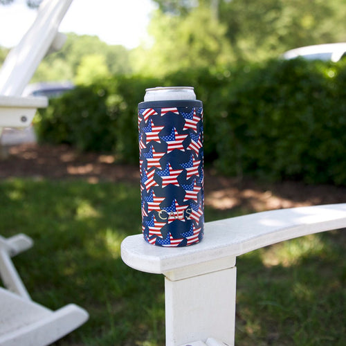 Caus Stars & Stripes Stainless Steel Skinny Can Cooler