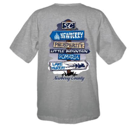 NEWBERRY COUNTY STREET SIGN SHORT SLEEVE T-SHIRT
