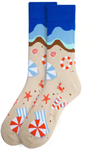 Parquet Men's Summer Beach Novelty Socks