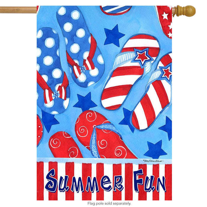 BRIARWOOD LANE SUMMER FUN HOUSE FLAG
