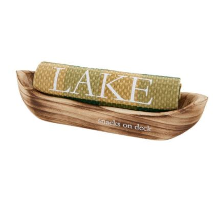Mud Pie Snack On Canoe Towel Set