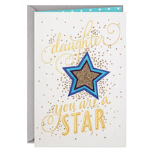 Load image into Gallery viewer, HALLMARK SUPERSTAR DAUGHTER CONGRATULATIONS CARD