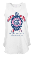 Load image into Gallery viewer, Simply Southern Collection Preppy USA Tank