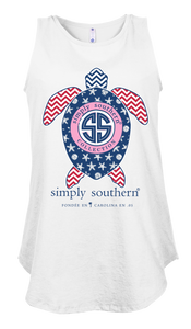 Simply Southern Collection Preppy USA Tank