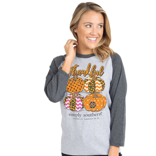 Simply Southern Collection Thankful Raglan T-shirt