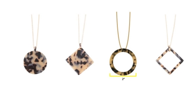 MAINSTREET COLLECTION TORTOISE SHELL NECKLACES