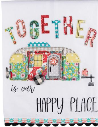 Glory Haus Together Is Our Happy Place Tea Towel