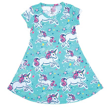 Load image into Gallery viewer, ITS A GIRL THING UNICORNS YOUTH DRESS
