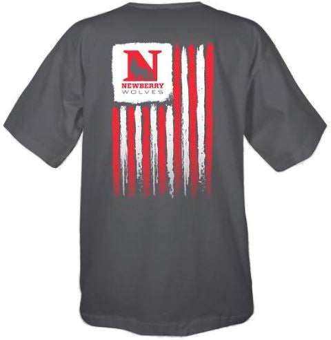 Newberry College USA Flag Short Sleeve T-shirt
