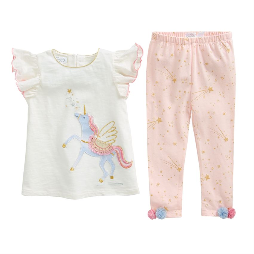 Mud Pie Unicorn Tunic and Legging Set