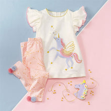 Load image into Gallery viewer, Mud Pie Unicorn Tunic and Legging Set