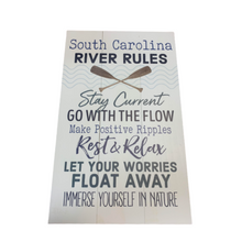 Load image into Gallery viewer, P. Graham Dunn South Carolina River Rules Wooden Pallet Decor