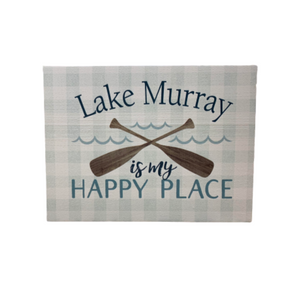 P. Graham Dunn Lake Murray is My Happy Place Word Block Tabletop Decor