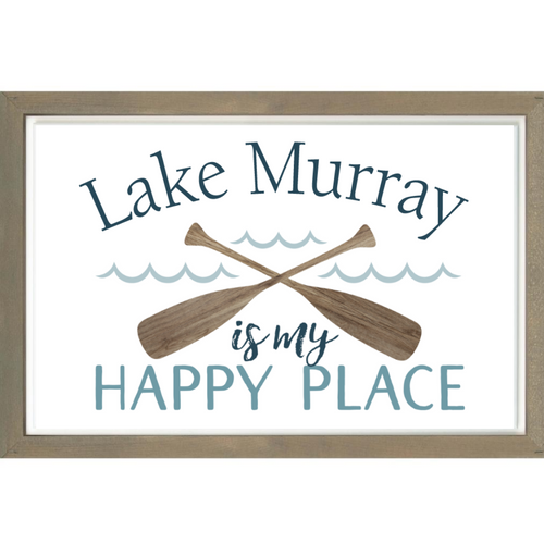 P. Graham Dunn Lake Murray is My Happy Place Framed Wall Decor