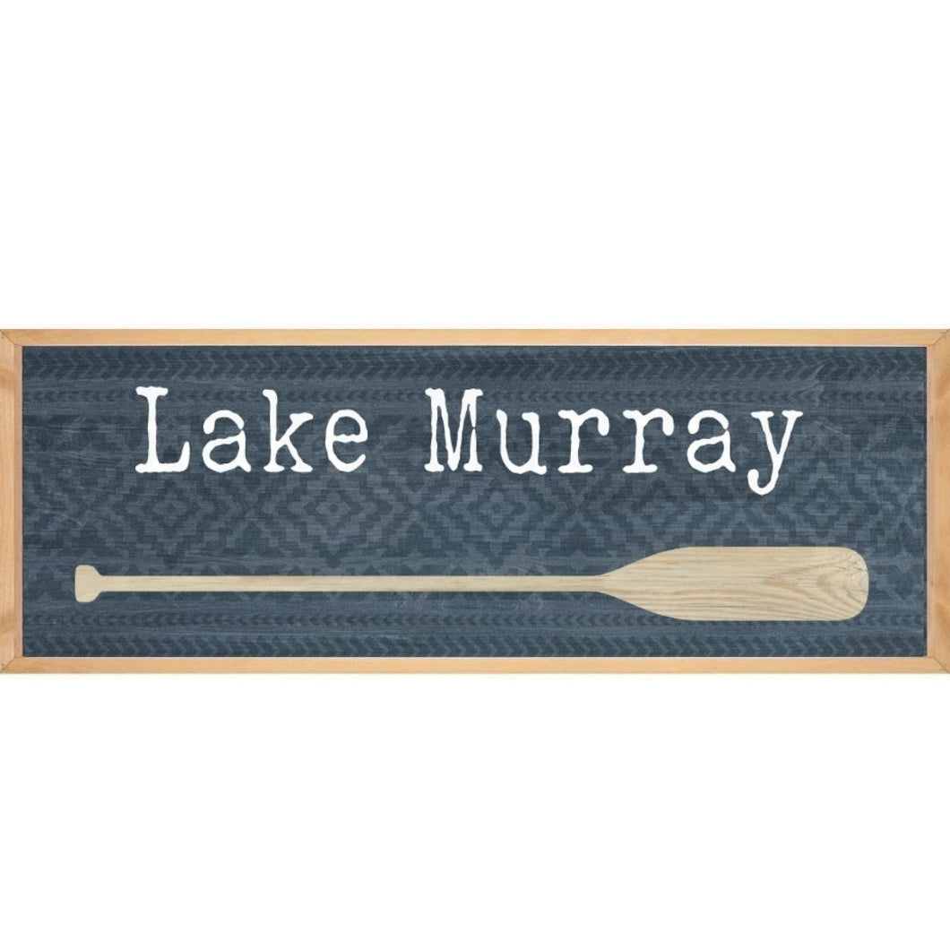 P. Graham Dunn Lake Murray Oar Framed Sign