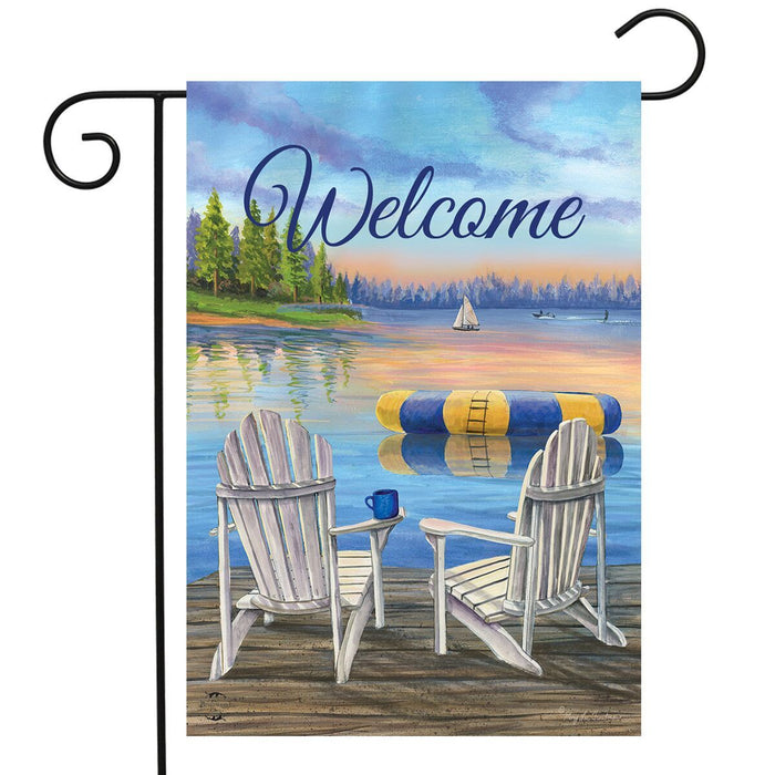 BRIARWOOD LANE WATERFRONT RETREAT WELCOME GARDEN FLAG