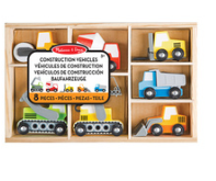 Melissa and Doug Wooden Construction Site Vehicles