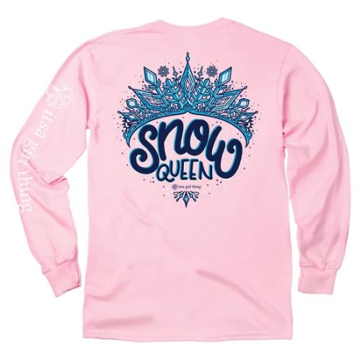 ITS A GIRL THING YOUTH LONG SLEEVE - SNOW QUEEN
