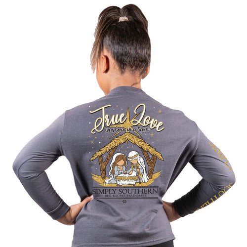 Simply Southern Collection Youth Barn Long Sleeve T-shirt