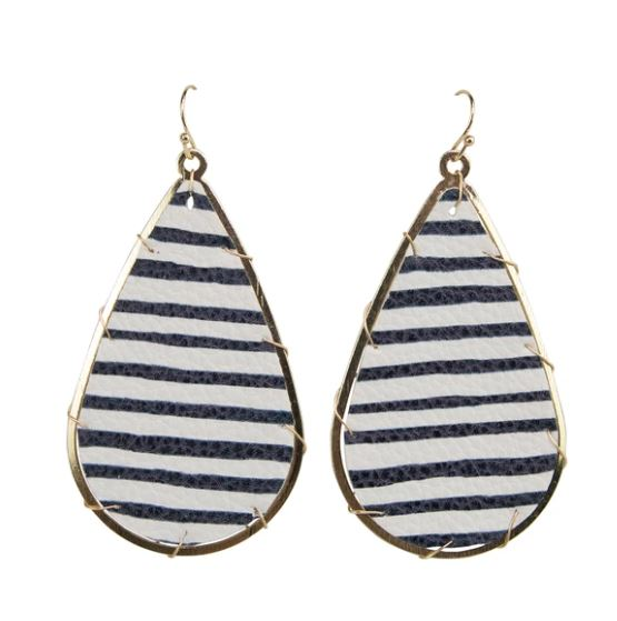 Michelle McDowell Miami navy Stripes Earrings