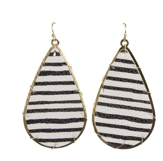 Michelle McDowell Miami Black Stripes Earrings