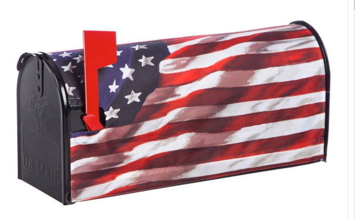 Evergreen American in Motion Mailbox Cover