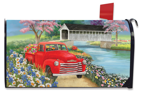 Briarwood Lane Spring Covered Bridge Mailbox Cover