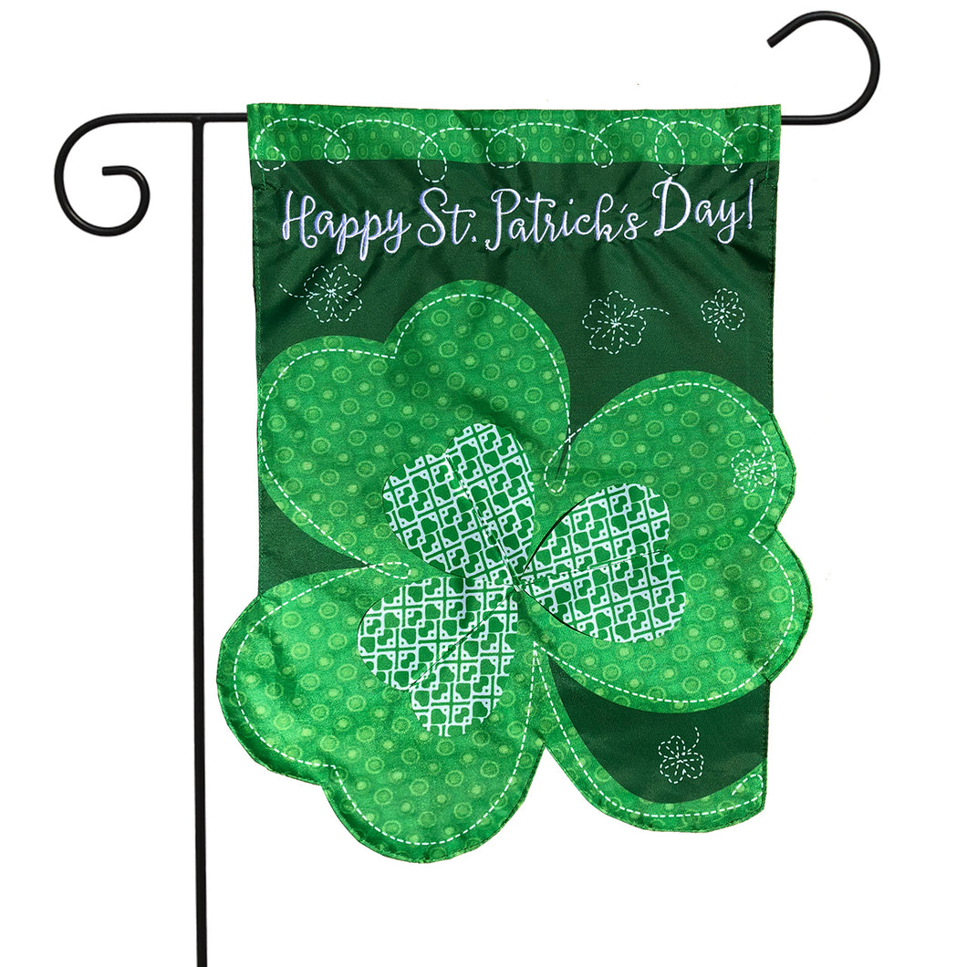 Briarwood Lane Shamrock Applique Garden Flag